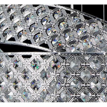 Lampa wisząca Orbitea kryształowa 50 cm nad stół 5xG9 regulowana wysokość