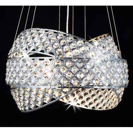 Hanging lamp Orbitea crystal 50 cm above the table 5xG9 height adjustable