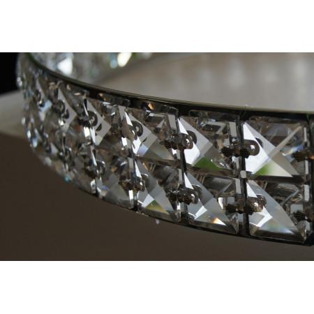 Lampa przysufitowa plafon kryształowy Nerdin XL 75/50 cm 4 Ring 4xG9