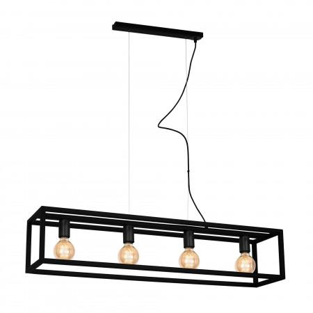 Lampa wisząca CAGE BLACK 4xE27