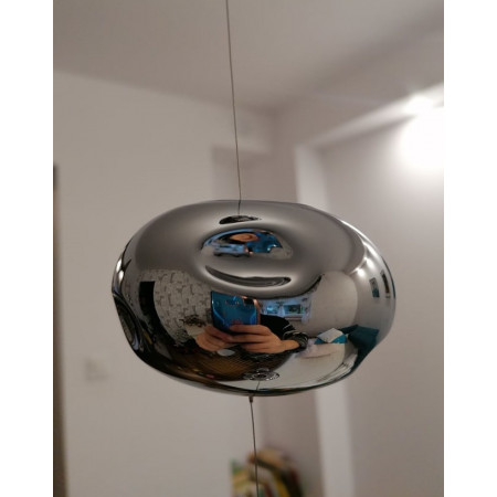 Lampa Wiszaca 125cm Bubble Mini nad Schody Hol Klatka Schodowa szkło