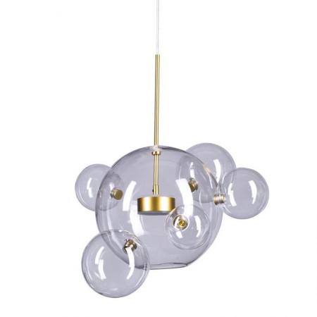Lampa wisząca bańka 45 cm BUBBLES 6 kul led złoto 3000K szklana gold