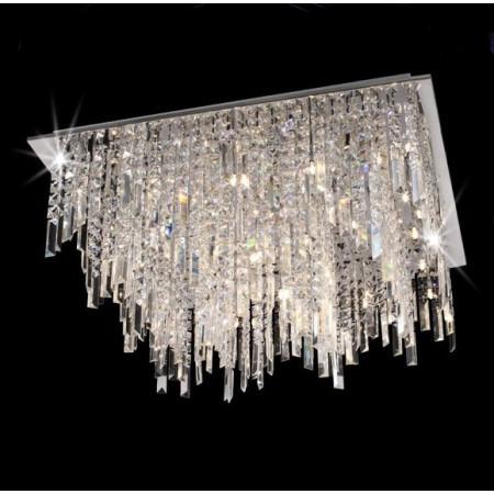 Ogromny żyrandol kryształowy DENVER XL 75 cm plafon kryształy