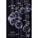 Kryształowa lampa BAGATTO, żyrandol kryształowy 100 cm