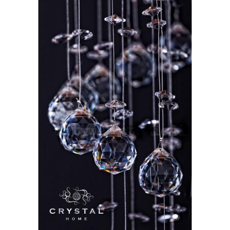 Lampa kryształowa XXL ANEL 186cm wisząca nad schody hol kryształ