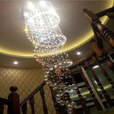 Lampa Kryształowa GLORIA wisząca 2XL 50/151 cm nad shody hol kryształ