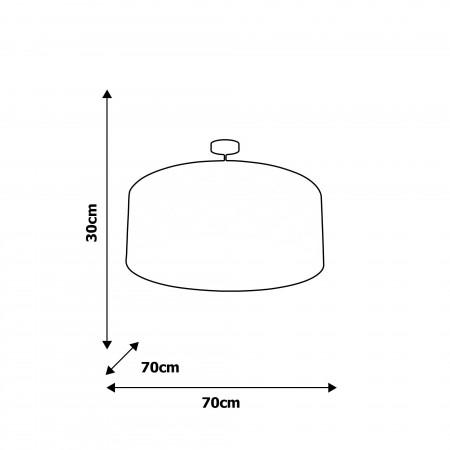 Lampa wisząca PIERRA 3xE27 przysufitowa plafon 70 cm tkanina marokańska koniczyna