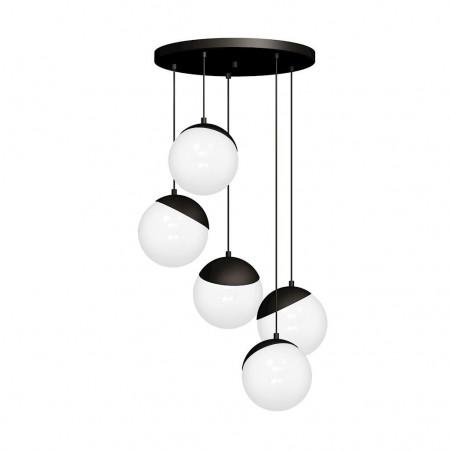 Lampa sufitowa wisząca SFERA BLACK regulowana