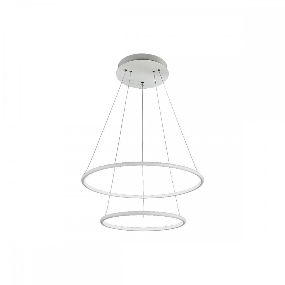 Lampa sufitowa wisząca ORION WHITE II LED XL regulowana okręgi