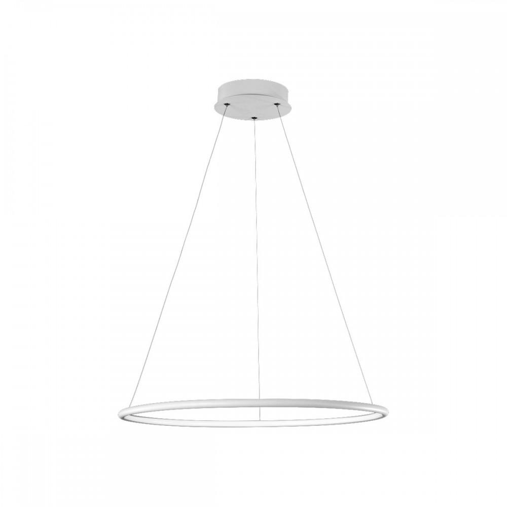 Lampa sufitowa wisząca ORION WHITE I LED regulowana okrąg