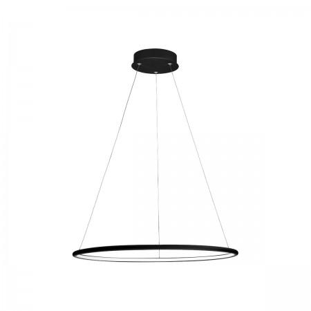 Lampa sufitowa wisząca ORION BLACK I LED regulowana okrąg