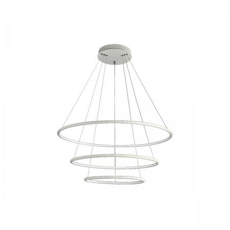 Lampa sufitowa wisząca ORION WHITE III LED XXL regulowana okręgi