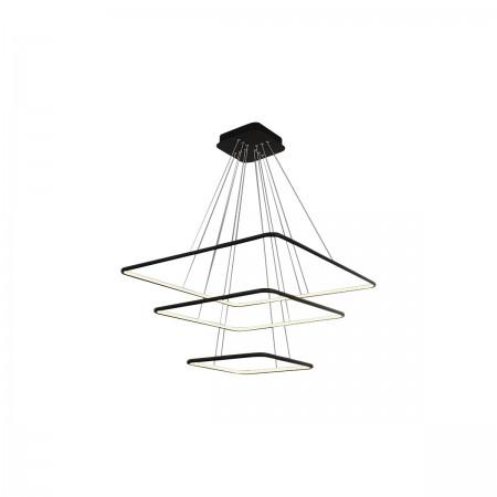 Lampa sufitowa wisząca NIX BLACK III LED XXL regulowana kwadraty