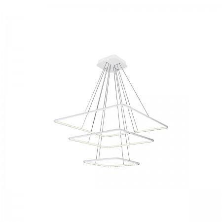 Lampa sufitowa wisząca NIX WHITE III LED XXL regulowana kwadraty