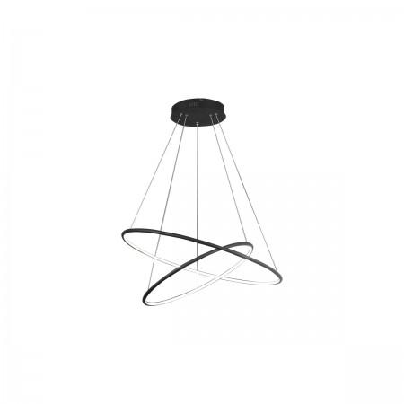 Lampa sufitowa wisząca ORION BLACK II LED XL regulowana okręgi