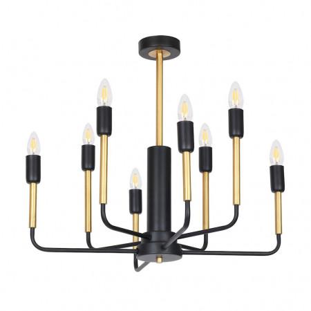 Żyrandol lampa sufitowa REX XXL industrial metal czarny mosiądz