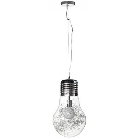 Lampa sufitowa wisząca CLOTILDE industrial regulowana metal szkło ozdobna