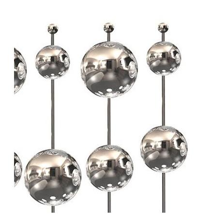 Kinkiet BUBBLE SILVER XL 40 cm 10W 4000K LED  chrom srebrny kule kulki design