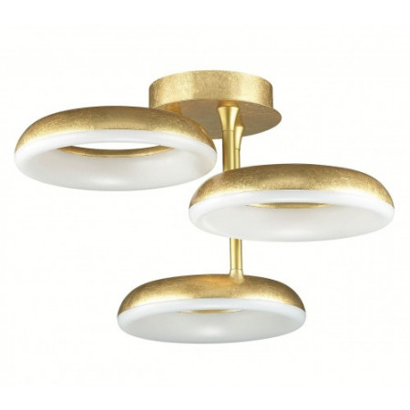 Plafon ITALIANO led 27W gold złoty 60/30 cm 4000K salon sypialnia design