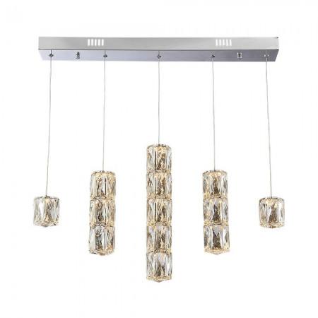 Lampa nad stół kryształowa RALO 70 cm led 40W 3000K  wisząca duże kryształy design