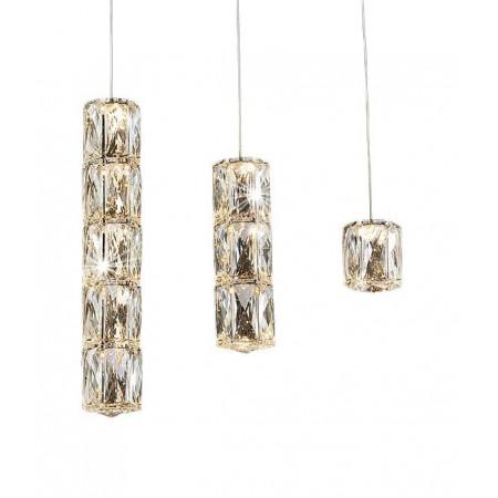 Lampa nad stół kryształowa RALO 70 cm wisząca duże kryształy design