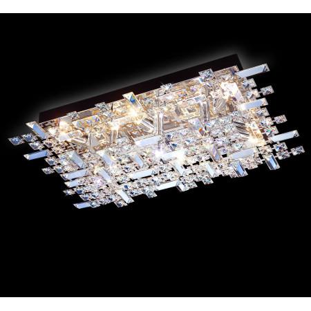 Plafon Przysufitowy Szkło Chrom LED Prostokąt Elegancki Styl
