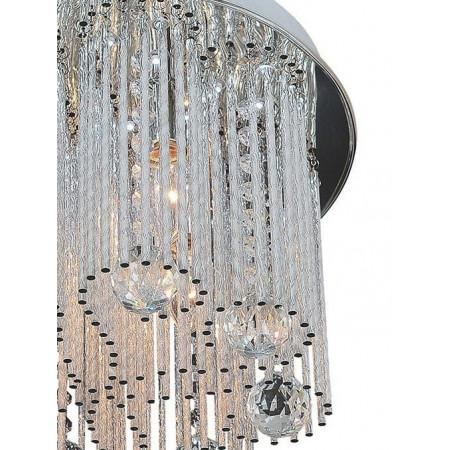 Plafon przysufitowy kryształowy AZAHAR LED 34 cm metal kryształ