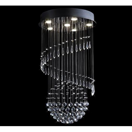Lampa kryształowa wisząca SPREADO 90 cm 6xGU10 duży rozmiar chrom