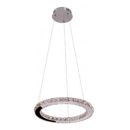 Lampa wisząca kryształowa RING ONE okrągła regulowana led 40 cm nowoczesna