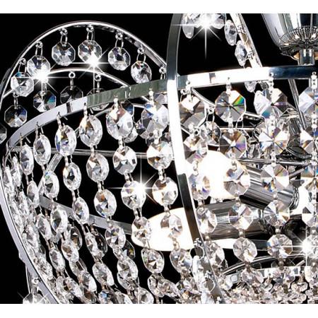 Żyrandol Kryształowy Metal Askon 48cm Wiszący do Salonu Kryształ