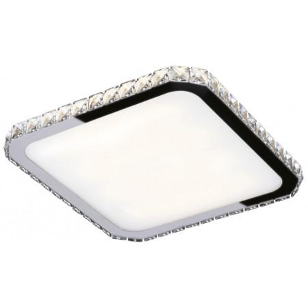 Plafon kryształowy przysufitowy PREZZIO ROUND 24W 44 cm kryształy 3000K kwadrat led