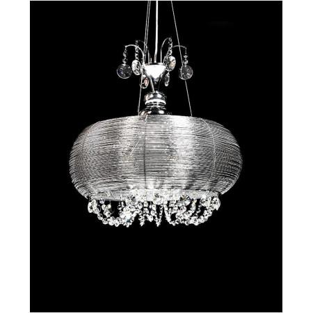 Lampa sufitowa kryształowa wisząca Osila 50 cm 4 X E14 regulowana nad stół