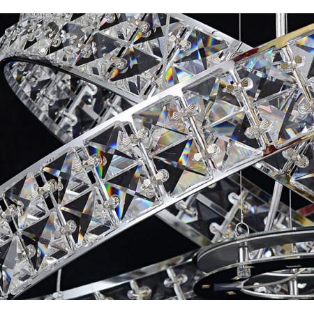 Lampa Kryształowa Mini Ring do Salonu Sypialni Chrom Srebrna Kryształ E27
