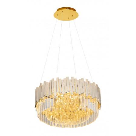 Lampa kryształowa wisząca TREND 45 cm kryształ metalowe zwisy kryształy MAXLIGHT