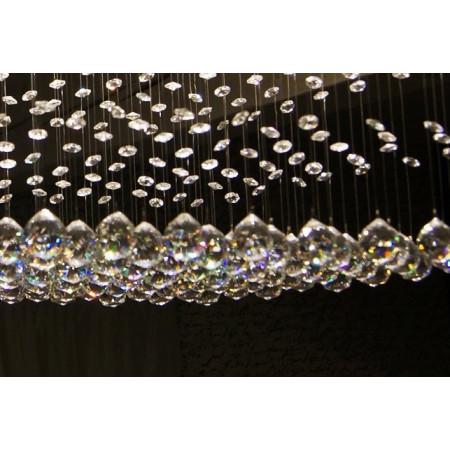copy of Kryształowa Lampa Bagatto Żyrandol Kryształowy 80cm do Salonu Sypialni LED