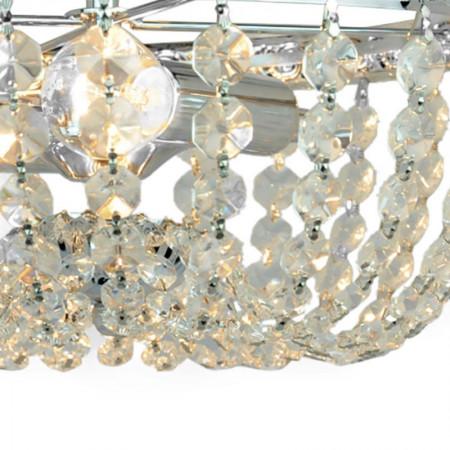 Mini plafon kryształowy RETTA 30 cm chrom 2xE14 zdobiony wzorem