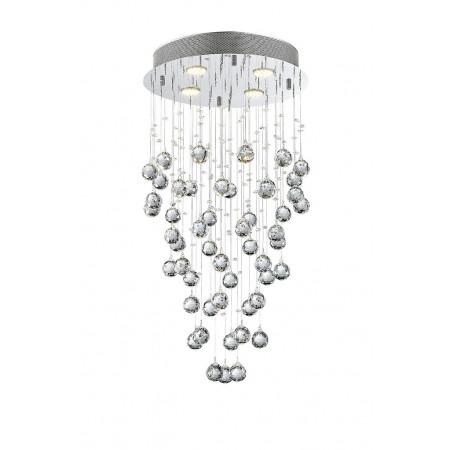 Żyrandol kryształowy RETSEL 35/55 cm prawdziwy kryształ sypialnia design chrom