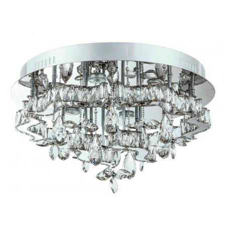 Ogromny plafon Ramea XXL 80 cm kryształowy nowoczesny salon sypilania chrom