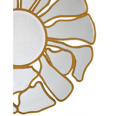 Lustro dekoracyjne gold FLOWER XXL złote 92 cm Art Deco ozdobne salon sypialnia