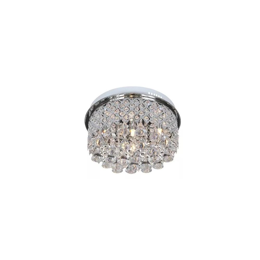 Plafon AMPOLA LED kryształowy 45 cm metal kryształ szkło pilot w zestawie