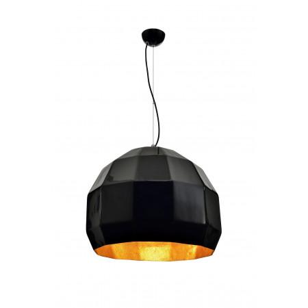 Lampa sufitowa wisząca ESPO 50 cm czarna złota regulowana nad stół