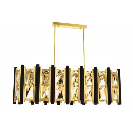Lampa sufitowa wisząca kryształowa AVONNI GETAFE XL złota szer. 90x35 cm