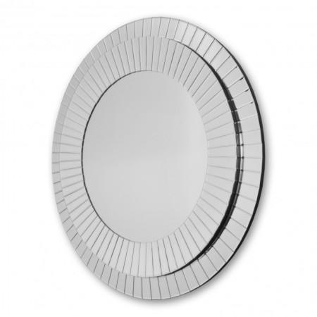 Lustro wiszące dekoracyjne KLEO okrągłe 100 cm rama lustrzana