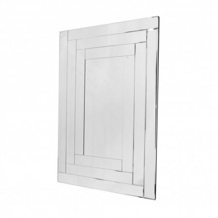 Lustro wiszące dekoracyjne PENELOPA prostokątne 120x80 cm rama lustrzana
