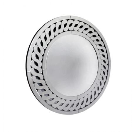 Lustro wiszące dekoracyjne BARLETTA okrągłe 80 cm ażurowa rama lustrzana