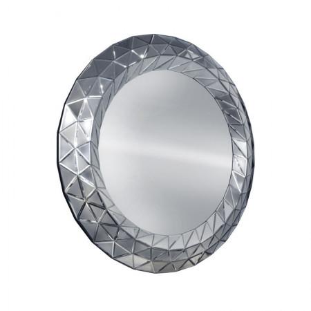 Lustro wiszące dekoracyjne COMO okrągłe 100 cm rama lustrzana 3D geometryczna