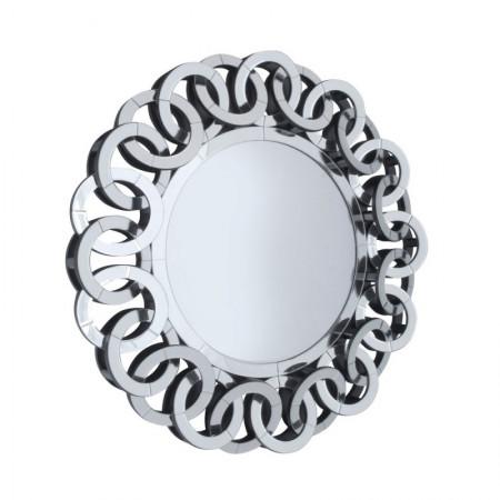 Lustro wiszące dekoracyjne CARLA okrągłe 89 cm ozdobna rama lustrzana