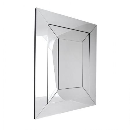 Lustro wiszące dekoracyjne SALERNO prostokątne 121x100x4 cm nowoczesna rama lustrzana