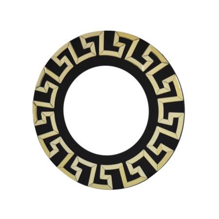 Lustro wiszące dekoracyjne VERICE CHAMPAGNE okrągłe 80 cm zdobienia retro nowoczesna rama ozdobna