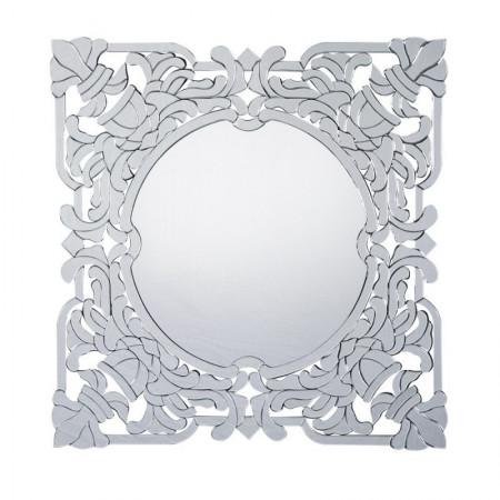 Lustro wiszące dekoracyjne ELIZABETH kwadratowe 100x100 cm ozdobna rama styl elżbietański glamour